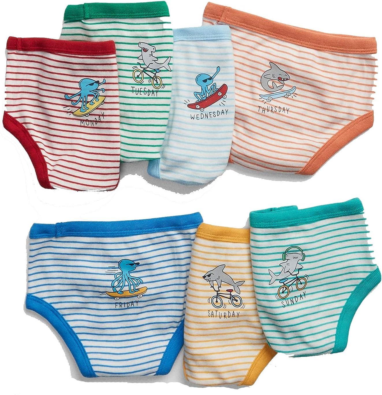 BabyGap Toddler Boys Sea Days-of-The-Week Briefs (7-Pack)
