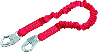 3M Protecta PRO 1340101 6' Elastic Web and Snap Hooks At Each End, 310  lb. Capacity, Red