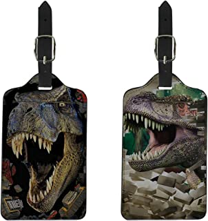 Coloranimal Cool 3D Dinosaur Printed Travel Luggage Tags Suitcase Labels