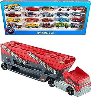 Bundle Includes 2 Items - Hot Wheels Mega Hauler and Hot Wheels 20 Car Gift Pack (Styles May Vary)