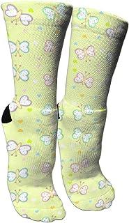 靴下 抗菌防臭 ソックス ベビーバタフライスポーツスポーツソックス、旅行&フライトソックス、塗装アートファニーソックス30 cmロング靴下