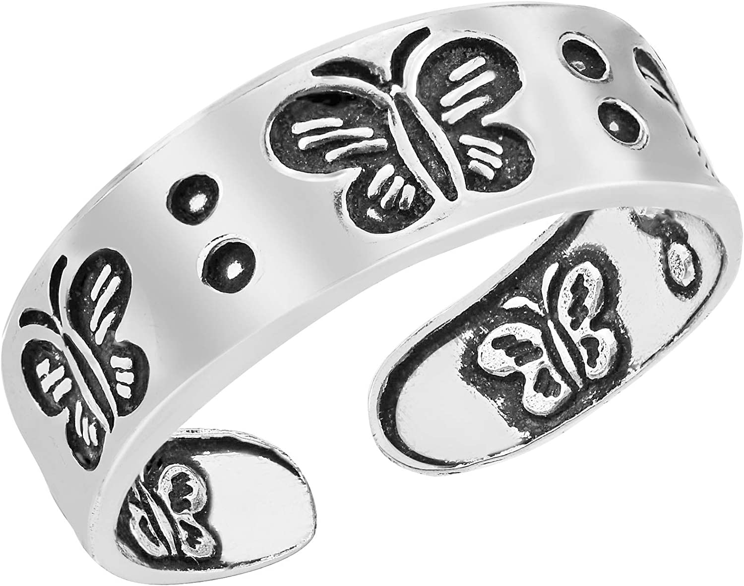AeraVida Max 65% OFF Sweet Symphony of Butterflies Silver Sterling .925 Toe 55% OFF