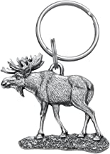 product image for Danforth - Moose Pewter Keyring - 2 Inches - Handcrafted - Made in USA