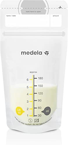 Medela Breast Milk Storage Bags, 100 Count, Ready to Use Breastmilk Bags for Breastfeeding, Self Standing Bag, Space ...