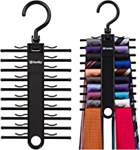 Tenby Living 2-Pack Black Tie Rack, Organizer, Hanger, Holder - Affordable Ti.
