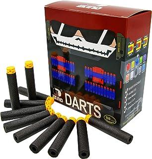 EKIND 100 Pcs 7.2cm TPR Waffles Soft Head Darts Refill Foam Bullet Compatible for Nerf N-Strike Elite AccuStrike Guns