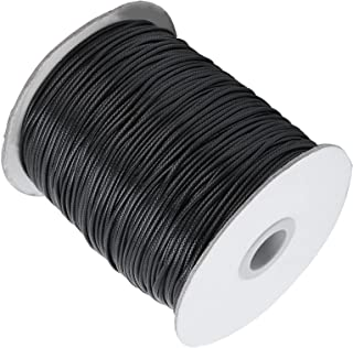 Hand Woven Wax Thread, Sufficient Length Pure Shiny Smooth Waxed Cotton Cord for Knitting for Jewelry Making for Sewing