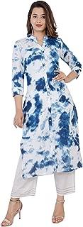 SURBHI Women's Straight Cotton Kurta Palazzo set