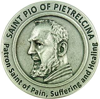 Lumen Mundi Patron of Healing Saint Pio of Pietrelcina Pocket Token with Prayer Back