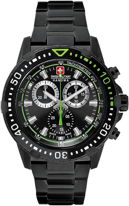 Orologio da uomo, cronografo, swiss military hanowa extreme 06-5275.13.007