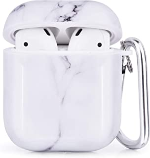 CAGOS Compatible with Airpods Case, 3 in 1 Cute Marble Accessories Protective Hard Case Cover Portable & Shockproof Women ...