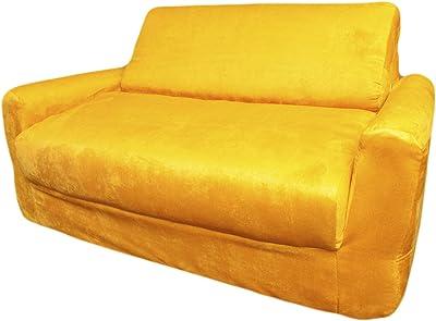 Fun Furnishings Sofa Sleeper, Yellow