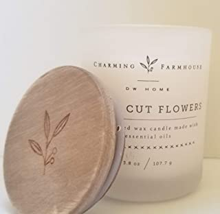 DW Home Charming Farmhouse Collection Fresh Cut Flowers Scented 3.8 oz Travel Size Candle