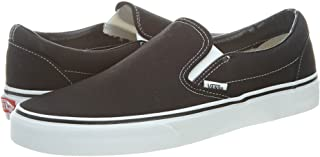 Unisex Adult Classic Slip-On Shoes in Black, 7 D(M) US...