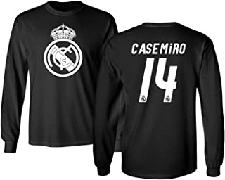 KING THREADS Real Madrid CASEMIRO Jersey Shirt Soccer Football Men's Long Sleeve T-Shirt