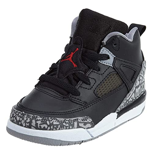 Pre School Nike Air Jordan Spizike BP Black Cement Black White Red 988660989