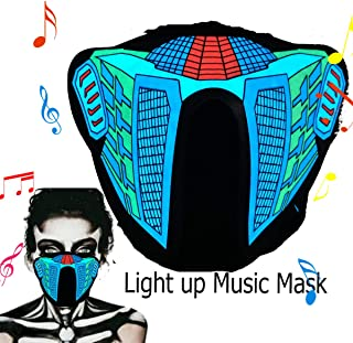 Halloween Mask Neon Mask led mask Scary Mask Light up Mask Cosplay Mask Lights up for Halloween Festival Party