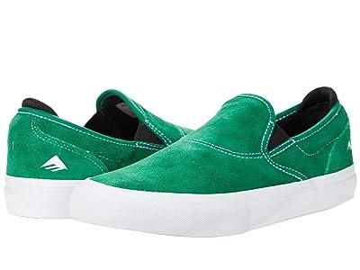 Emerica Wino G6 Slip-On (Green/White/Black) Men