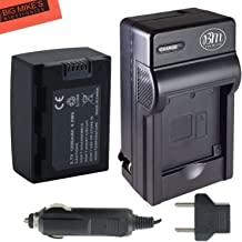 BM Premium IA-BP105R Battery and Charger for Samsung HMX-F80, F80BN, F80SN, F90, F90BN, F90WN, F800, F900, F900WN, SMX-F50, F50BN, F53, F54, F500, F501, F530, H300, H300BN, H303, H304, H305, H320
