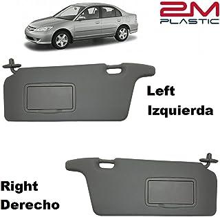 Sun Visor for Honda Civic 2001 2002 2003 2004 2005 Left + Right Pair Driver + Passenger Sides Darkgray 2M PLASTIC