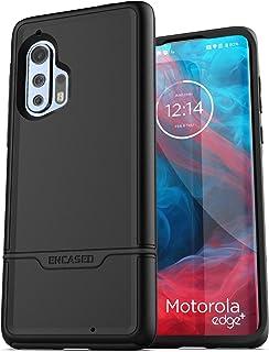 Encased Heavy Duty Motorola Edge Plus Case (2020 Rebel Armor) Military Grade Full Body Rugged Cover for Moto Edge+ (Black)