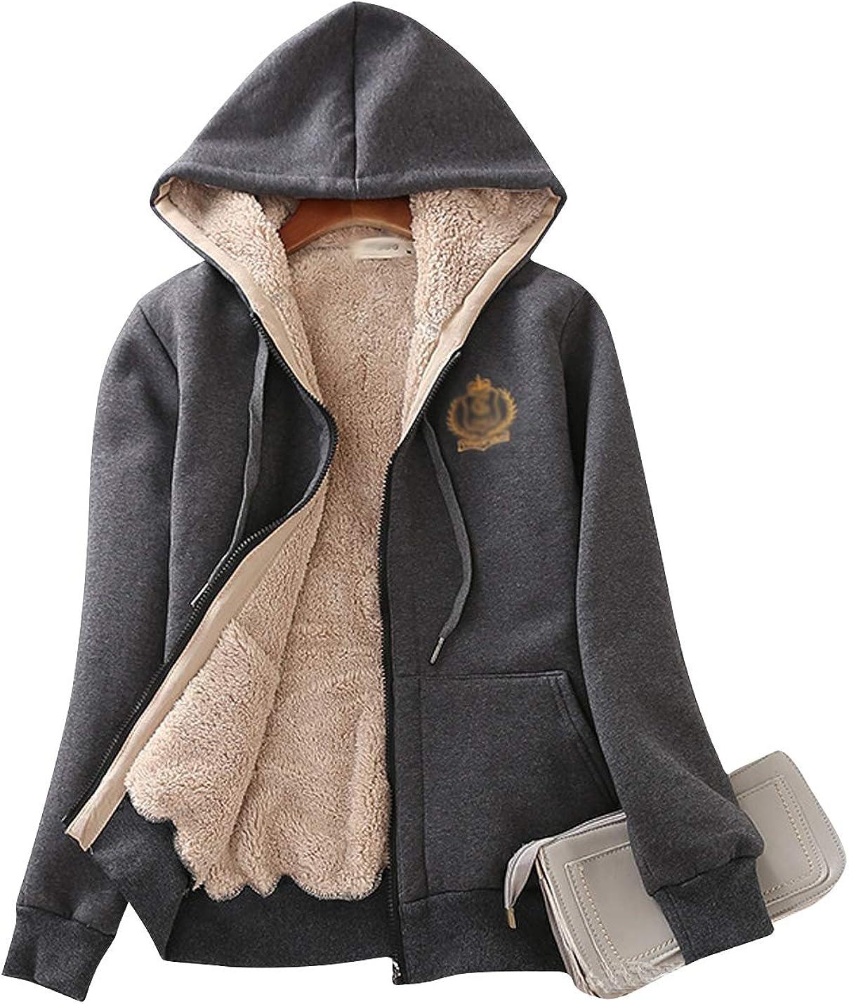 Wholesale ZGZZ7 Women's Winter Year-end gift Warm Comfort Sweatshirts Sherpa-Lined Activ