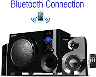 Boytone BT-210FD, Ultra Wireless Bluetooth Main unit, Powerful Sound with Powerful Bass System 30 watt, Excellent Quality Clear Sound & FM radio, with Remote Control Aux Port, SB/SD/ for Smartphone's , Tablets , Desktop Computers , Laptops ,Black Color