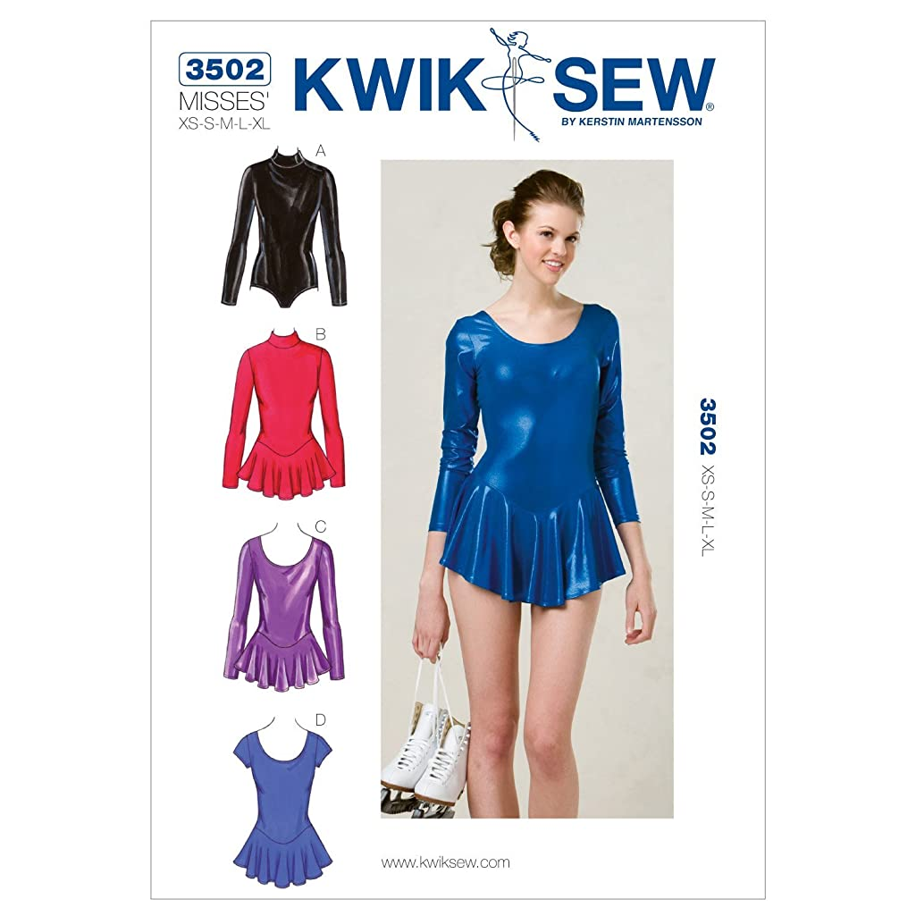 Kwik Sew K3502 Leotards Sewing Pattern, Size XS-S-M-L-XL