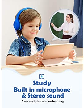 Mpow CH6S Kids Headphones with Microphone Over-Ear/On-Ear, HD Sound Sharing Function Headphones for Children Boys Gir...