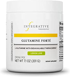Integrative Therapeutics - Glutamine Forté - L-Glutamine with Bioavailable Theracurmin - Lemon Lime Flavor ...