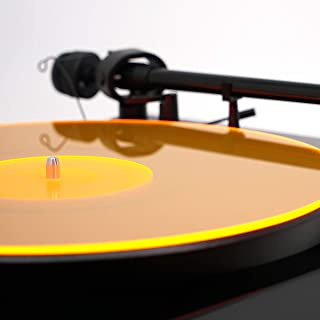 Acrylic Turntable Mat – OrangeLit – LP Slipmat