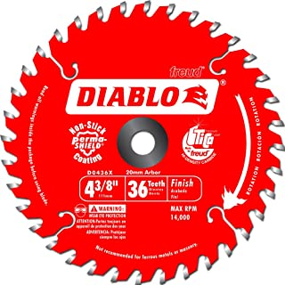 Freud D0436X Diablo 4-3/8-Inch 36 Tooth ATB Cordless Trim Saw Blade with 20-Millimeter..