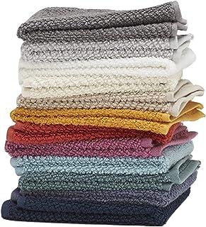 """Washcloths، 12 Pack، 100٪ حلقه نرم و غیره پارچه ای پارچه ای پنبه ای، اندازه 13 """"X 13""""، نرم و جذب، ماشین قابل شستشو، رنگ های ارتجاعی مختلف"""