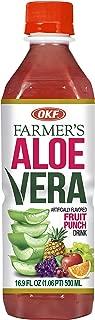 OKF Farmer's Aloe Vera Drink, Fruit Punch, 16.9 Fluid Ounce (Pack of 20)