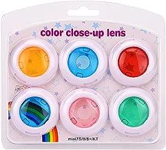Sunmns Color Close-Up Lens Filter Set for Fujifilm Instax Mini 9/8/ 8+ Instant Film Camera, 6 Pieces