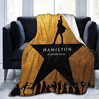 Ha-mil-ton Musical Micro Fleece Bed Blankets Super Soft Cozy Luxury Couch Blanket for Home Bedding Living Room 50X40