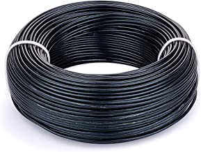 Fashewelry 180 Feet 12 Gauge Aluminum Wire Black Bendable Metal Craft Wire for Beading Jewelry Craft Making