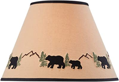 """Park Designs Black Bear Embroidered Shade - 12"""""""