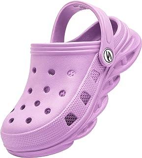 BODATU Kids Clogs Home Garden Slip On Water Shoes for Boys Girls Indoor Outdoor Beach Sandals Children Classic Slippers