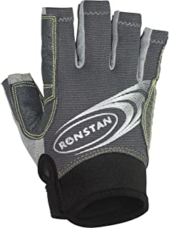 Ronstan Sticky Races Glove w/Cut Fingers - Grey - Medium (54948)