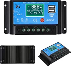 MOHOO 20A Charge Controller Solar Charge Regulator Intelligent with Dual USB Port PWM Back-light LCD Display 12V/24V(NEW DESING)