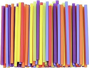 "[200 Pack] Jumbo Smoothie Straws - 8.5"" High Assorted Colors Milkshake Straws"