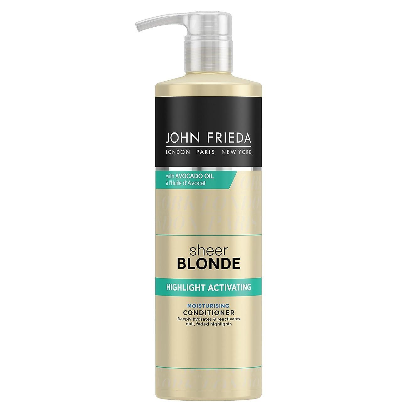 実質的見込みカカドゥJohn Frieda Sheer Blonde Highlight Activating Moisturising Conditioner for Lighter Shades 500ml