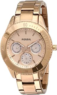 Fossil Stella Analog Rose Gold Dial Women's Watch - ES2859