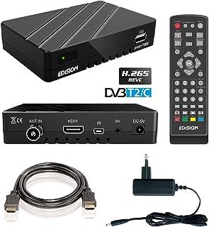Edision Proton T265Full HD Hybrid DVB-T2Ricevitore via cavo, FTA HDTV DVB-C/DVB-T/T2H.265HEVC (HDMI, USB 2.0)