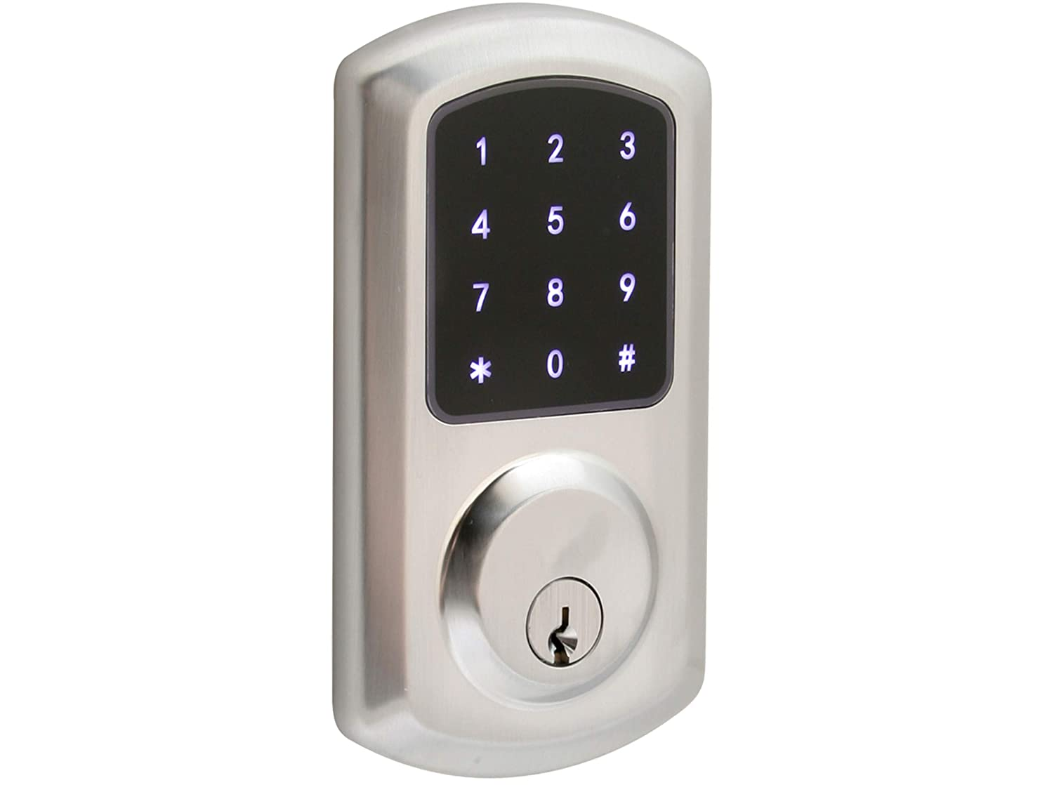 Prodigy SmartLock Commercial Grade Motorized Deadbolt 4000 with Keyless Entry (Satin Chrome)