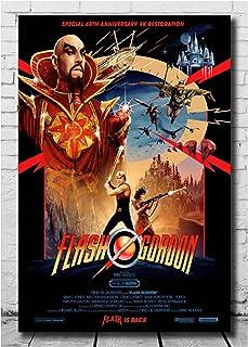 QQWER Flash Gordon Affiches De Film Et Impressions Toile Art Mural Imprimé Peinture Photos Décoration De La Maison Cadeau...