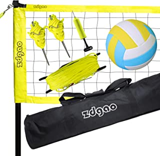 Zdgao Volleyball Net Outdoor - Portable Volleyball NetSet for Backyard & Beach, Lawn with Height Adjustable Pole System, B...
