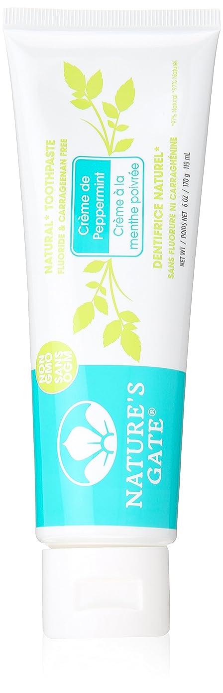 ベックス変形するナサニエル区海外直送品Toothpaste Creme De, Peppermint 6 Oz by Nature's Gate