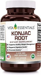 Vita Essentials Konjac Root 2000 Mg Veggie Capsules, 180 Count